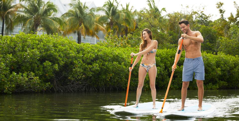 paddleboarding in the Keys